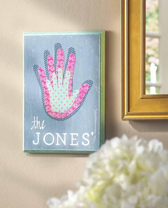 Family Handprint Canvas & Family Handprint Canvas | Mod Podge Rocks! | Pinterest | Family wall ...