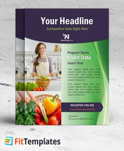 Dietitian Flyer Template For Health Coaching Or Cooking Class From