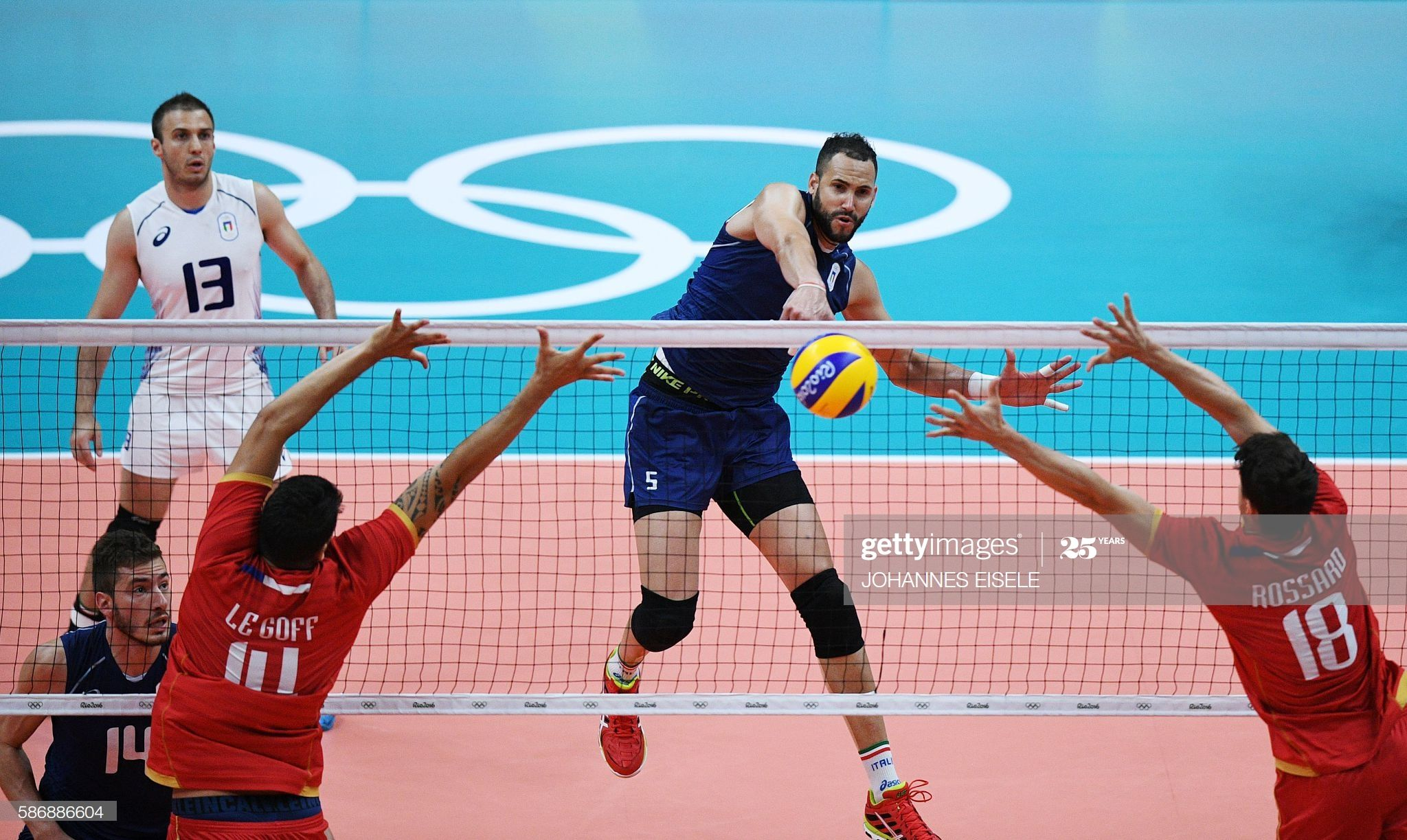 Italy S Osmany Juantorena Spikes The Ball During The Men S Qualifying In 2020 Rio Olympics 2016 Olympic Volleyball Olympics 2016