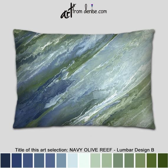 Stupendous Large Lumbar Support Pillow Olive Green And Navy Blue Throw Ibusinesslaw Wood Chair Design Ideas Ibusinesslaworg