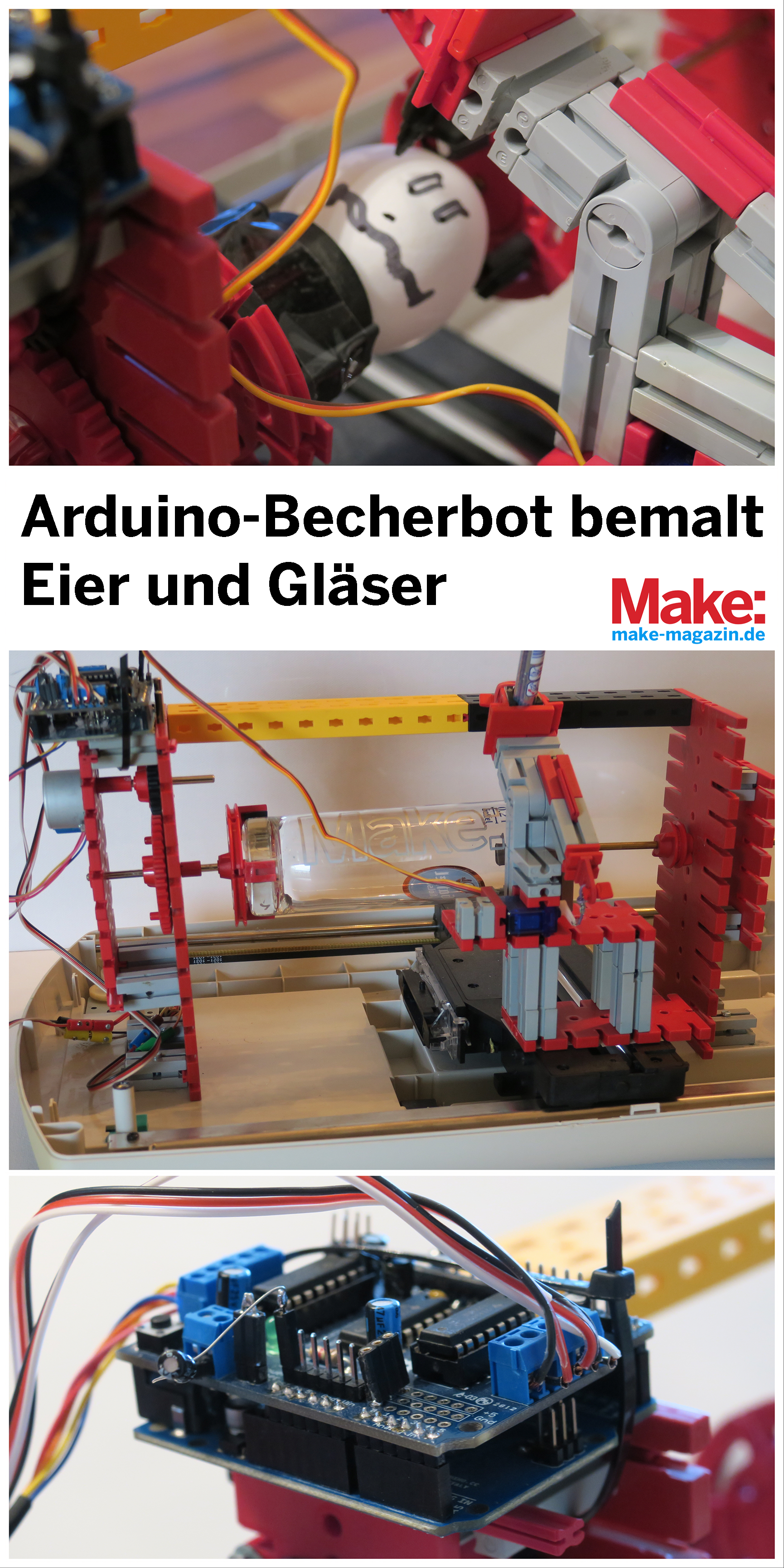 Eggbot Mit Arduino Und Fischertechnik Selber Bauen So