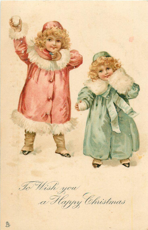 Image result for Girl Mailing Christmas Cards Ellen Clapsaddle ...