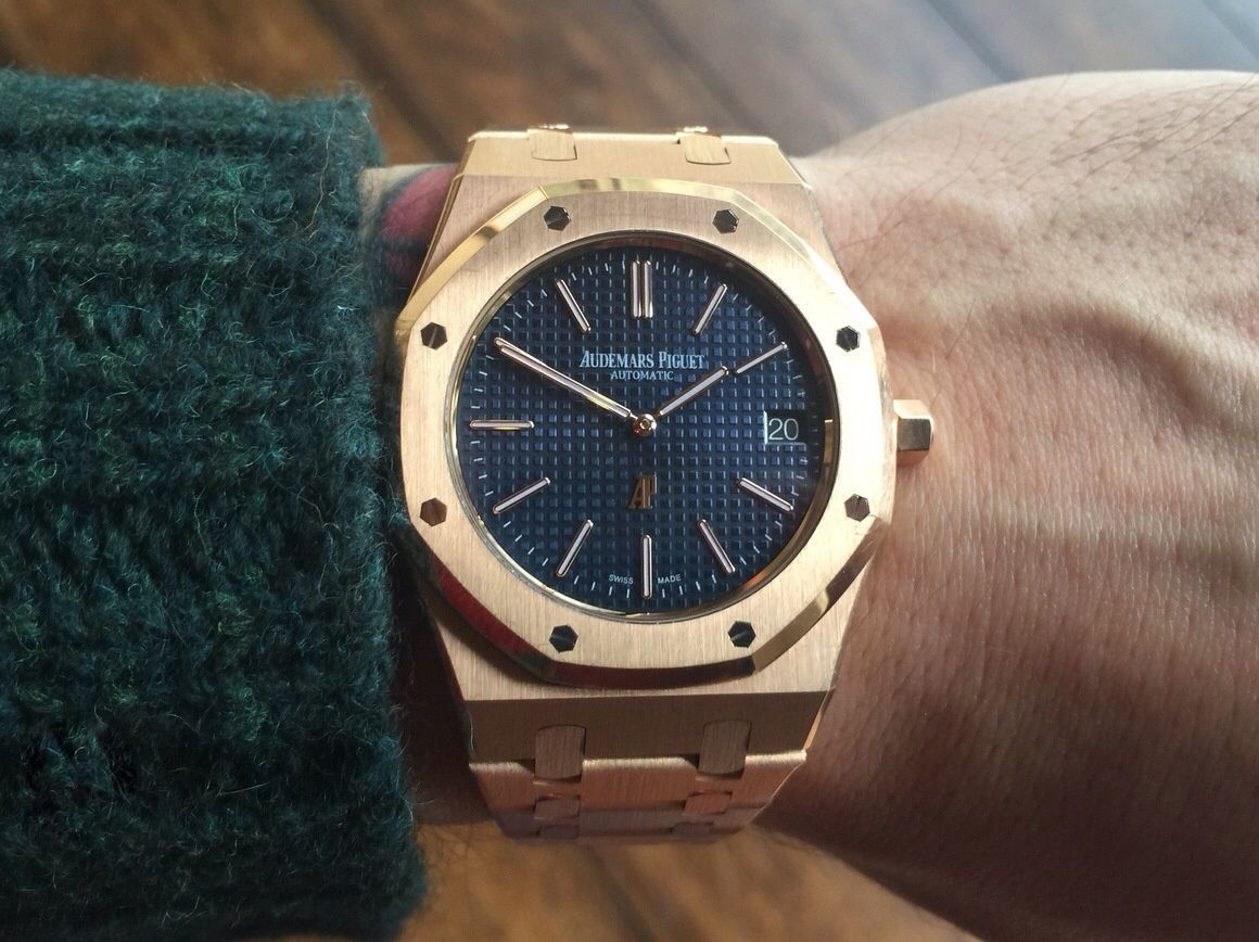 d3e5bbf93ea Audemars Piguet Royal Oak 15202 Jumbo Pink Gold