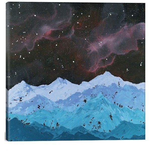 Icanvas Space Mountains Giclee Print Canvas Art Giclee Painting Northern Lights Painting Painting Prints