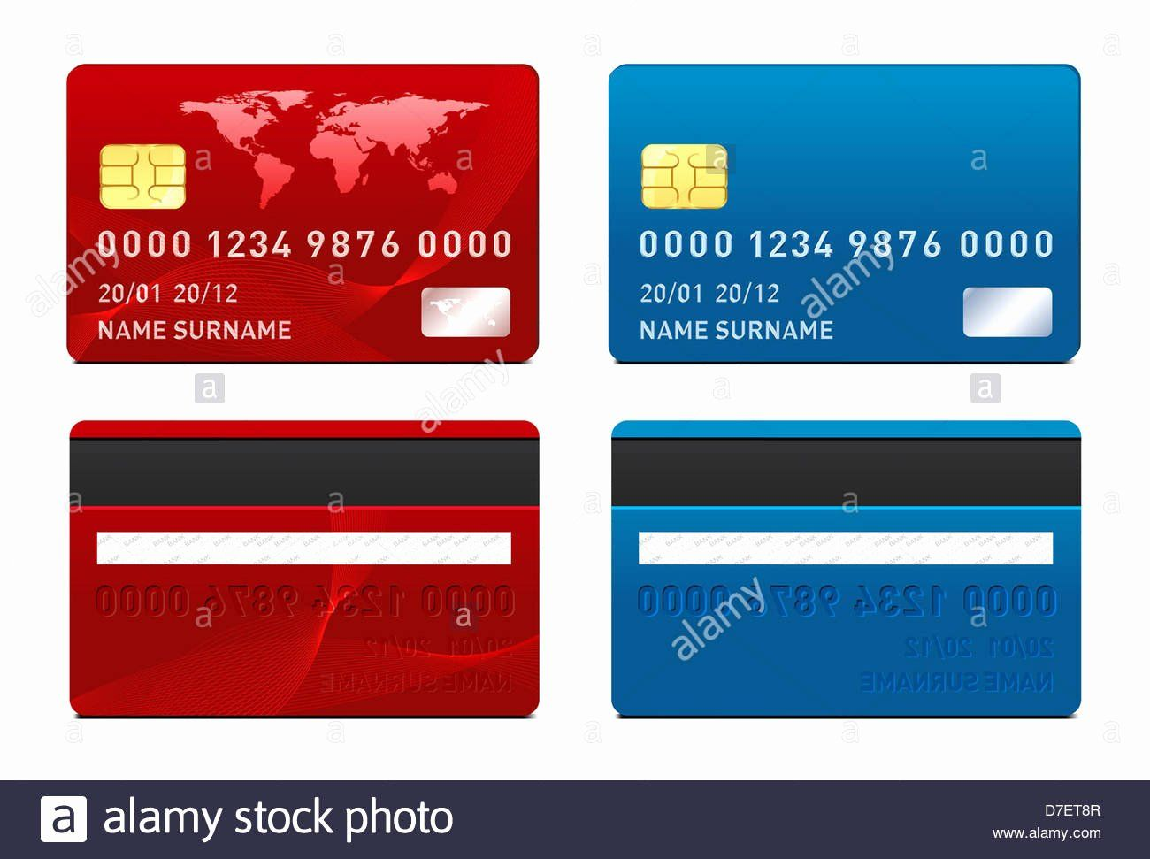 Blank Credit Card Template Luxury Credit Card Template Front And Back Side Stock Visa Card Credit Card Types Of Credit Cards