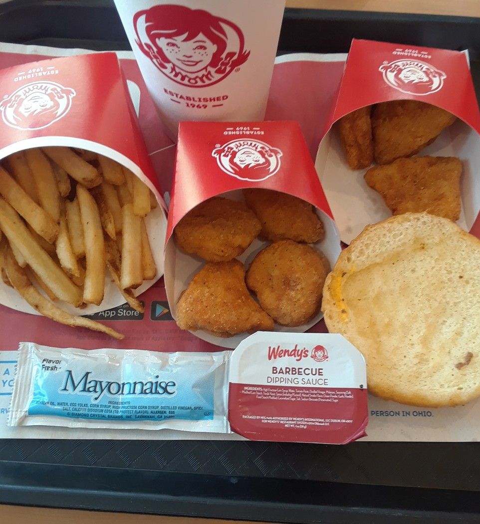 LUNCH 8/15/2018: WENDY'S Chicken Nuggets, French Fries