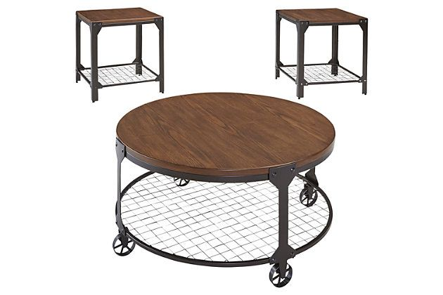 Medium Brown Rolena Table (Set of 3) View 2