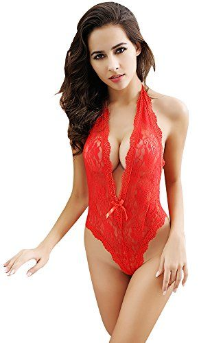 0a133b6df7ad Babydoll Lingerie Emubody Sexy Women Long Sleeve Lingerie Lace Underwear  Sleepwear jumpsuits FREE SIZE RED     Read more reviews of the product by  visiting ...