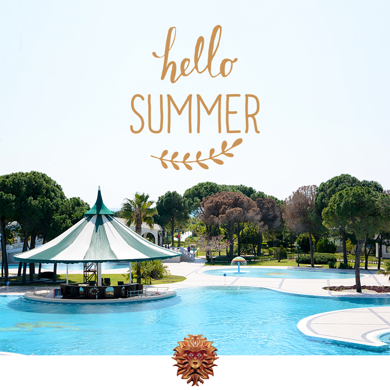 On the sunny Mediterranean coast started summer. And you ready for the summer?