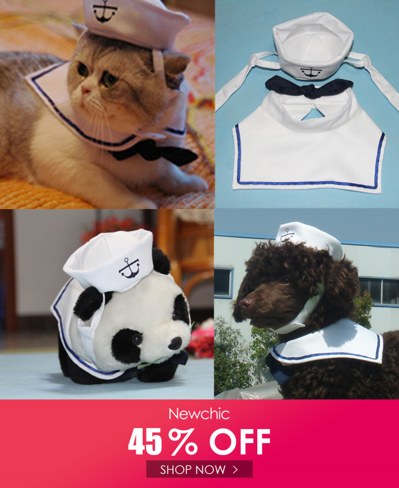 I found this amazing Fashion Pet Puppy Cat Small Dog Sailor Suit Adjustable Outfit…
