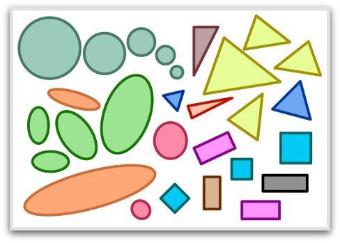 Forme 2D, forme geometriche di base, forme geometriche solide, forme ...