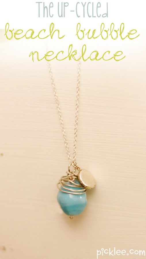The Up-cycled Beach Bubble Necklace {DIY}