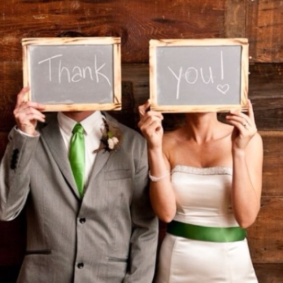 Thank You Signs: a his and hers chalkboard thank you photo ...