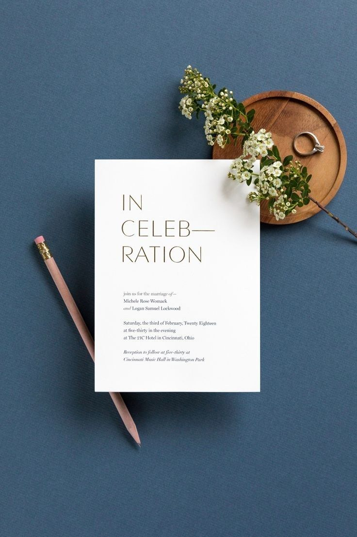 This pared-down wedding invitation by Artifact Uprising proves that ...