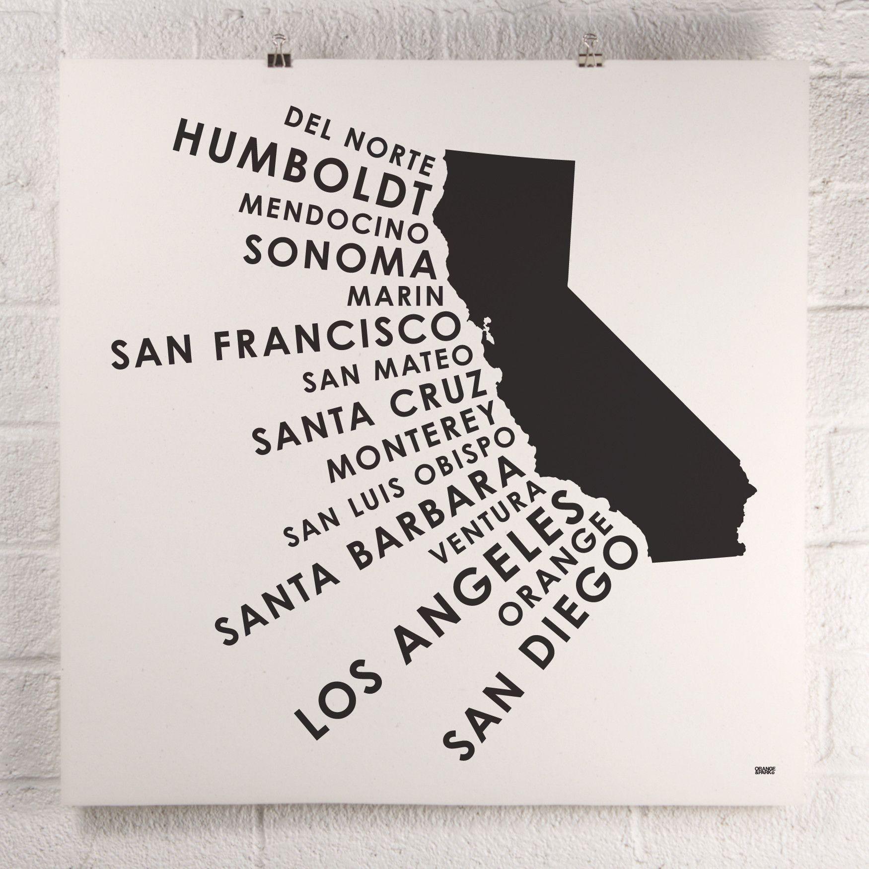 California Coastal Counties print California Coastal Counties