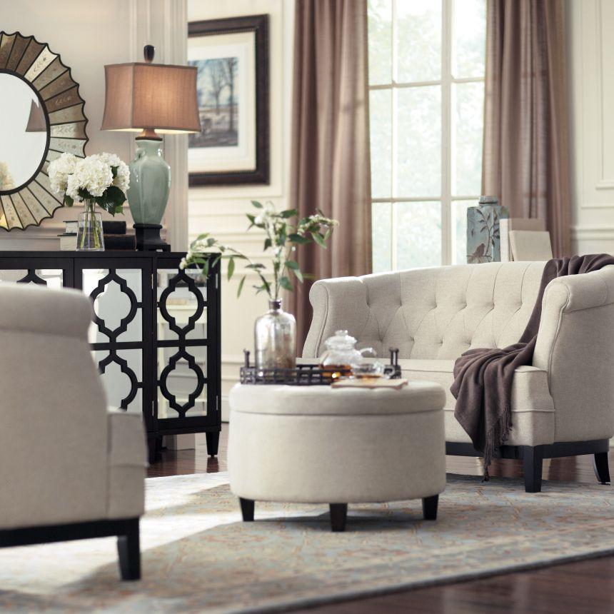 Black cream taupe slate sea foam green mirrored - Black and cream living room decor ...