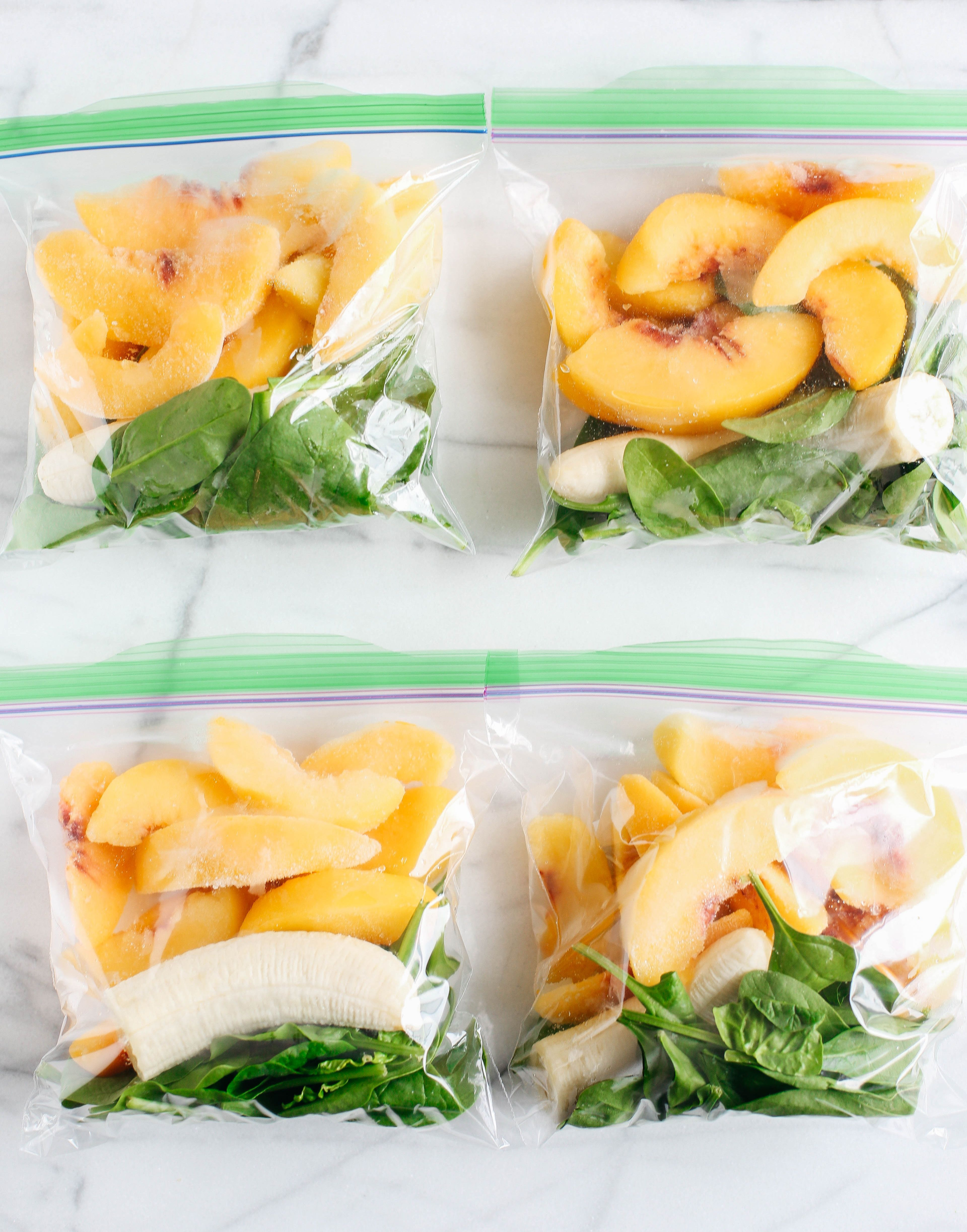 Frozen smoothie packs sure make meal prep a breeze this