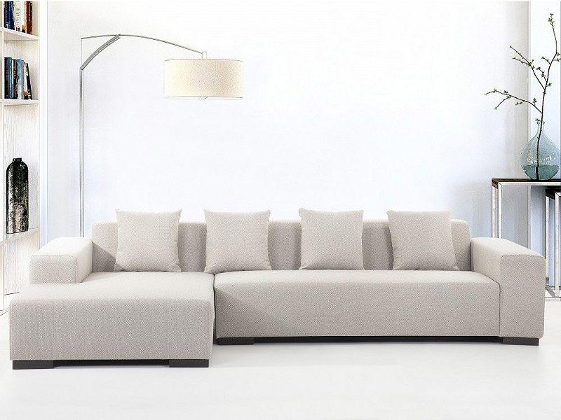 Canapé d angle gauche Sofa Lungo en tissu beige prix Soldes