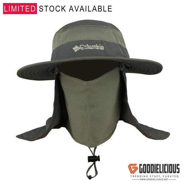 f662f580ff86a Wide Brim Fishing Hat with Rear and Face Veil Jungle Hat