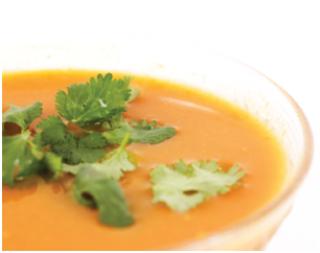 Crème de carottes crues aux 4 épices