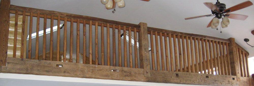 reclaimed barn wood railings