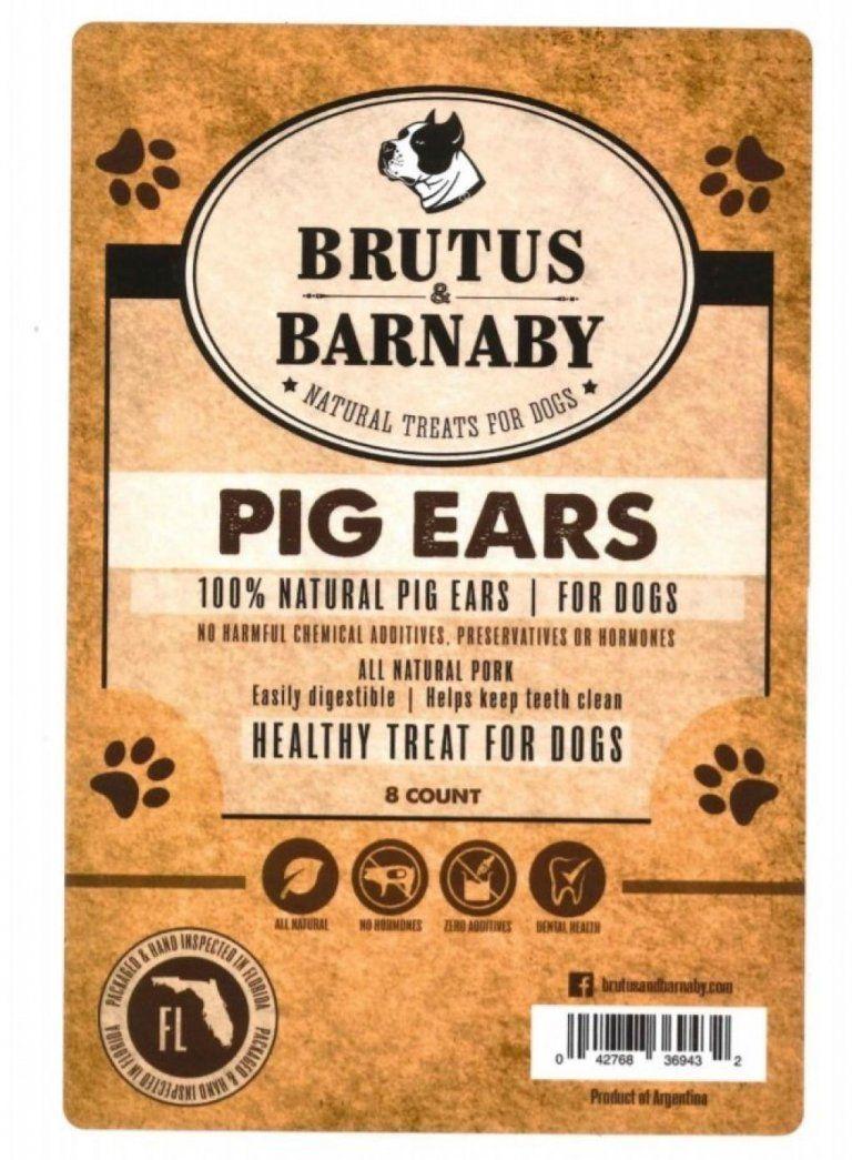 Brutus Barnaby Pig Ears Dog Treats Recall Dog Food Advisor