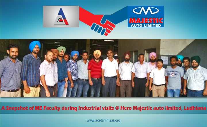 An Industrial Visit to Hero Majestic Auto Limited,Ludhiana for ME Faculty