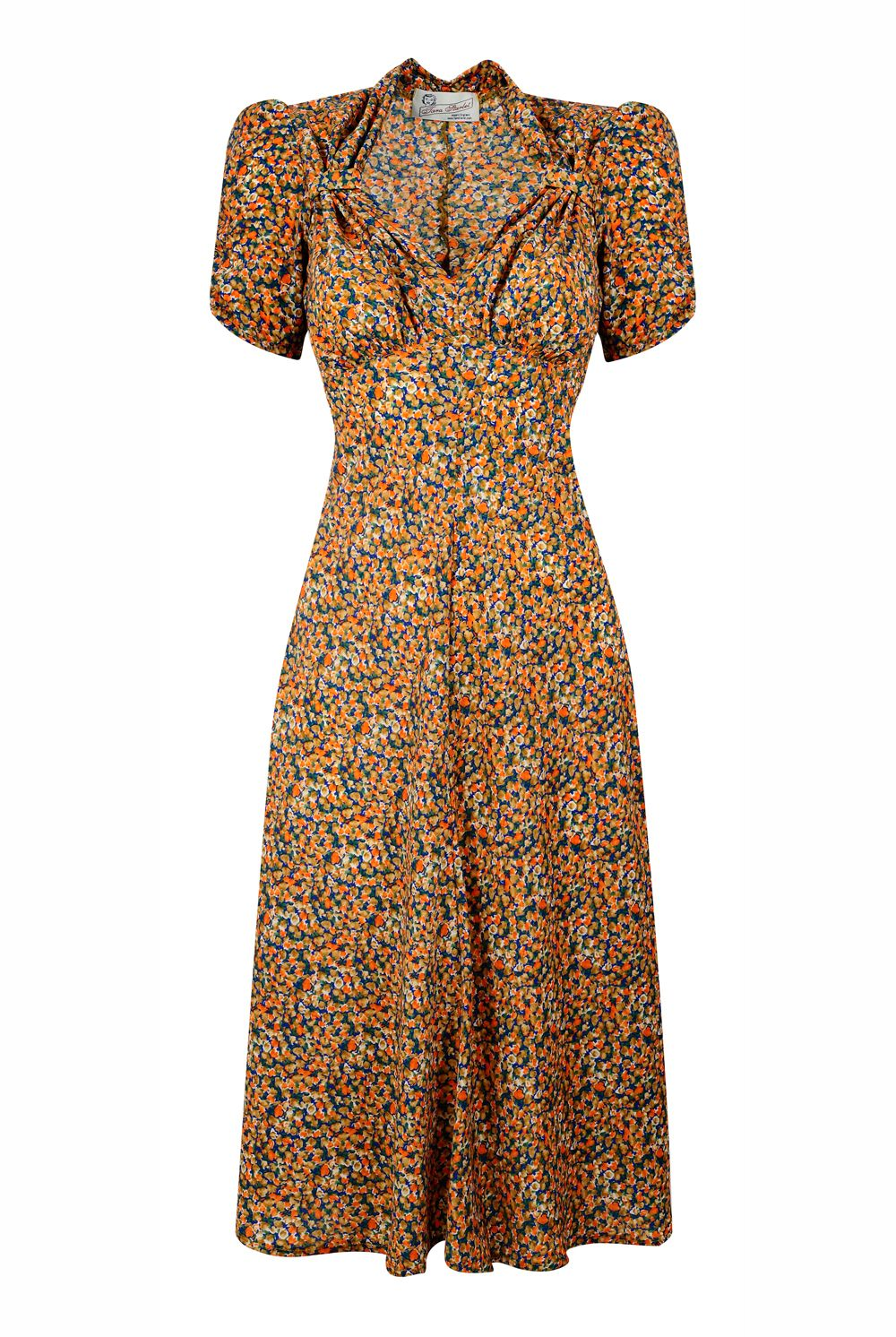 Tara Starlet 1940s 40s Style: Floral Sweetheart Dress So Many Prints To