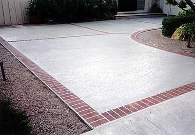 Concrete With Brick Border | Thread: Salted Concrete For Driveway? Anyone  Have It? Driveway IdeasWalkway IdeasPatio ...