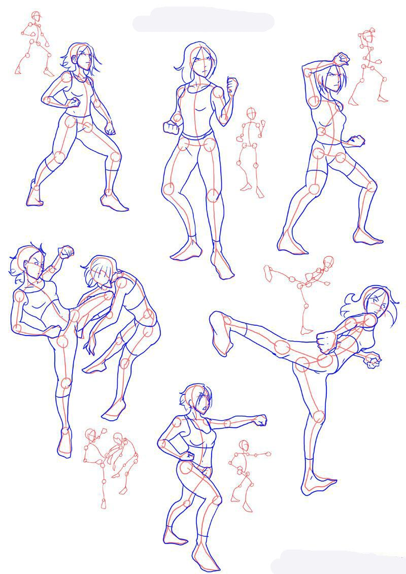 How To Draw Fighting Poses Step 2 1 000000062723 5 Risovanie Figur Uroki Risovaniya Artbuki