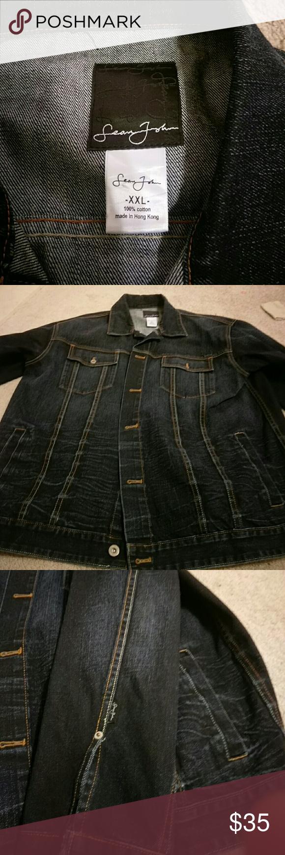 Sean John Denim Jacket Denim Jacket Jackets Blue Denim Jacket [ 1740 x 580 Pixel ]