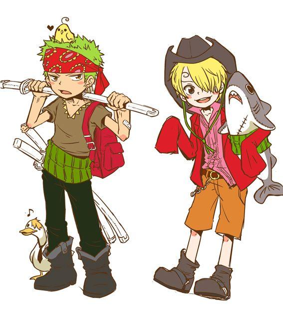 zoro and sanji by ramga