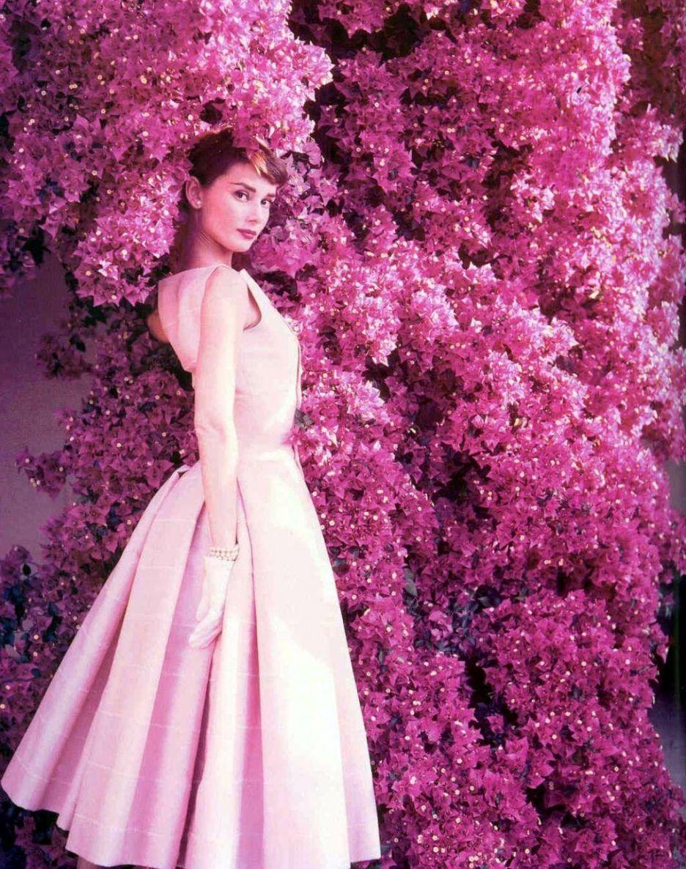 Audrey Hepburn and pink | Pink Addiction | Pinterest | Color