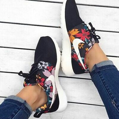 Black Floral Nike on We Heart It
