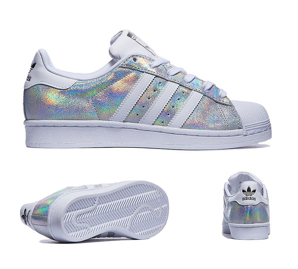 Womens Superstar Iridescent Trainer. Awesome!