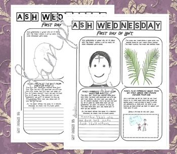 Ash Wednesday Worksheets For Kindergarten