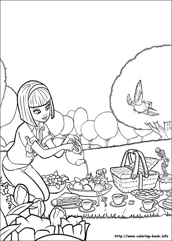 free coloring sheets of barbie thumbelina printable picture 11 picture