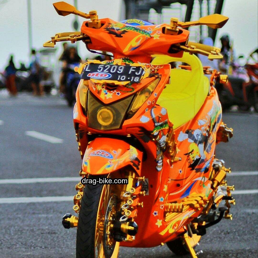 50 Foto Gambar Modifikasi Beat Kontes Street Racing Jari Jari Drag Bike Com Gambar Motor Honda