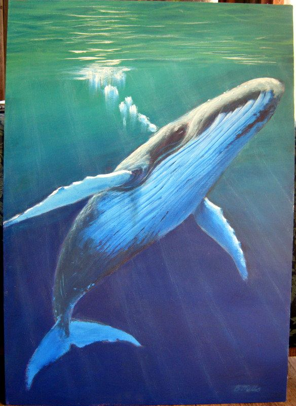Whale Acrylic Painting