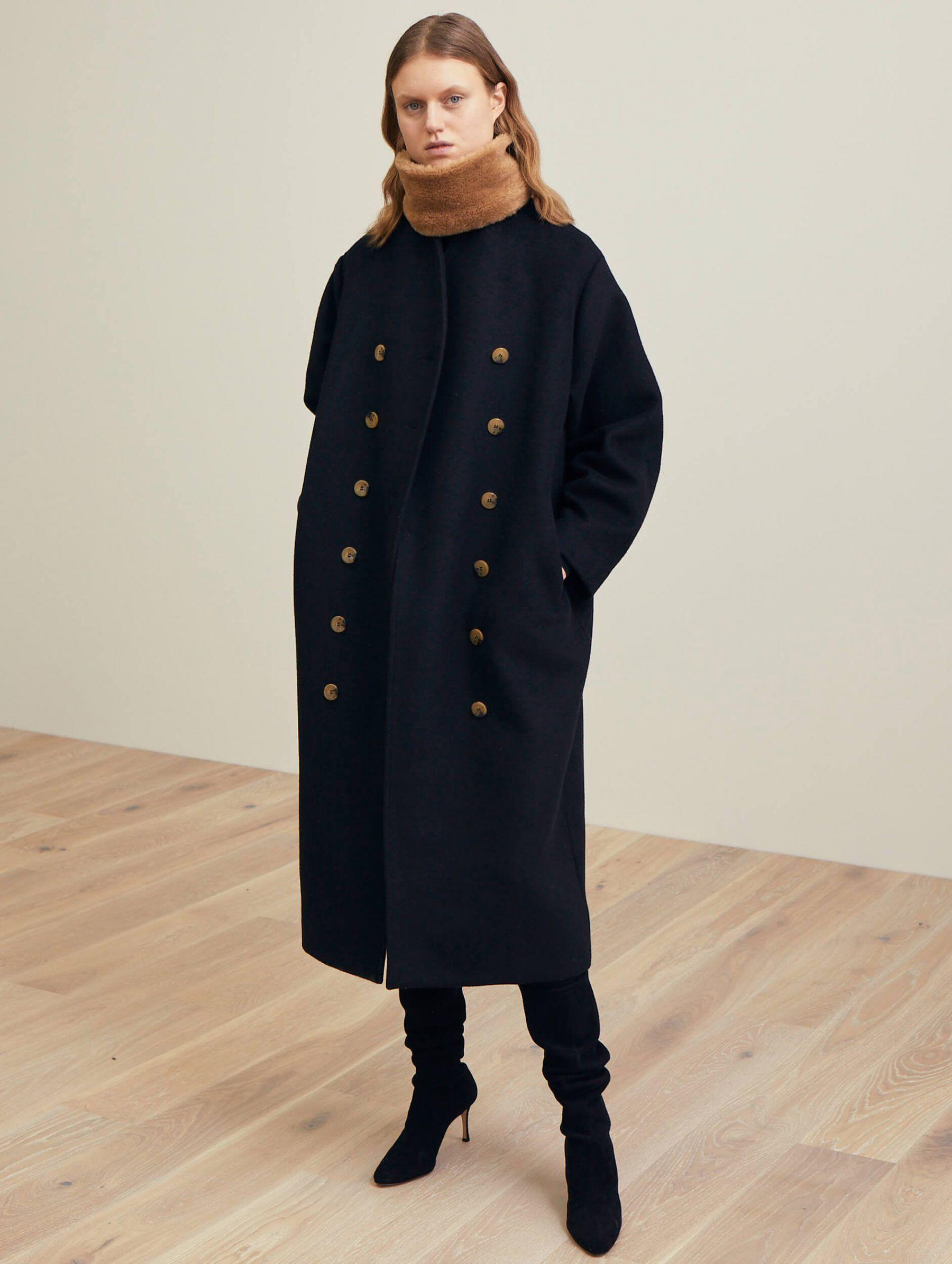 5e014b1e2366 Bergerac wool coat black in 2019   clothes   Wool coat, Clothes ...