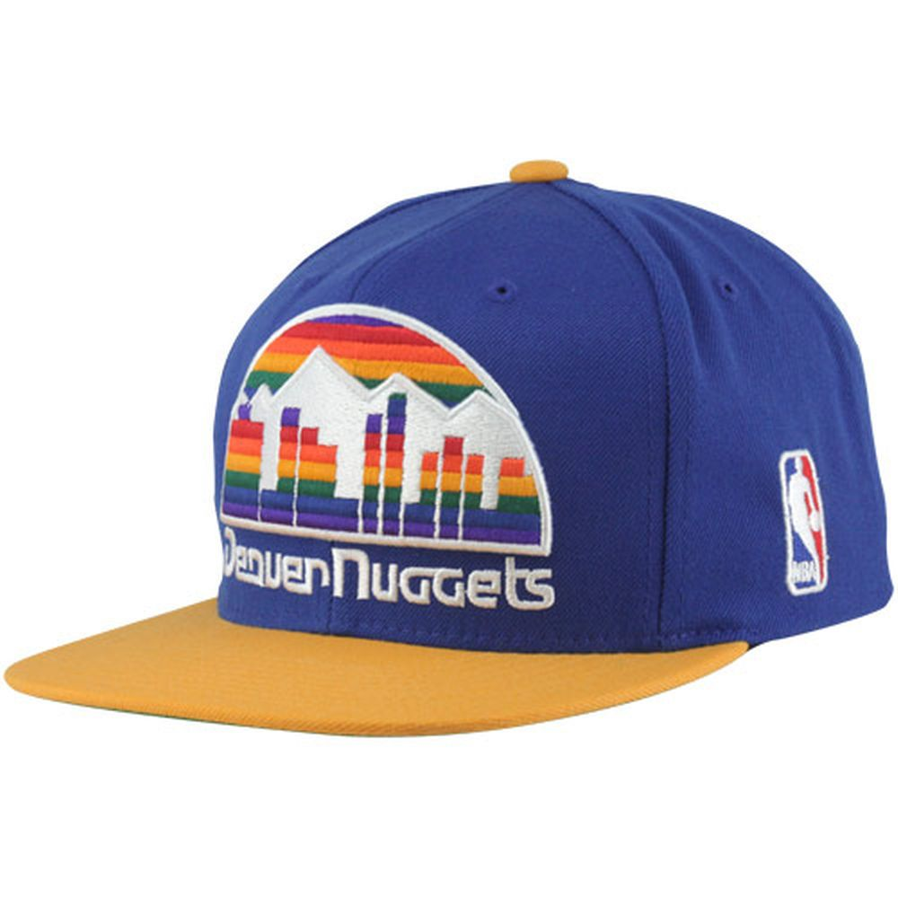 clearance sale popular stores new high Mitchell & Ness Denver Nuggets XL Logo Two Tone Snapback Hat ...