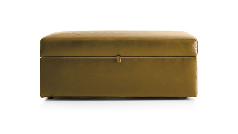 Excellent Axis Ii Leather Storage Ottoman With Tray Reviews Crate Inzonedesignstudio Interior Chair Design Inzonedesignstudiocom