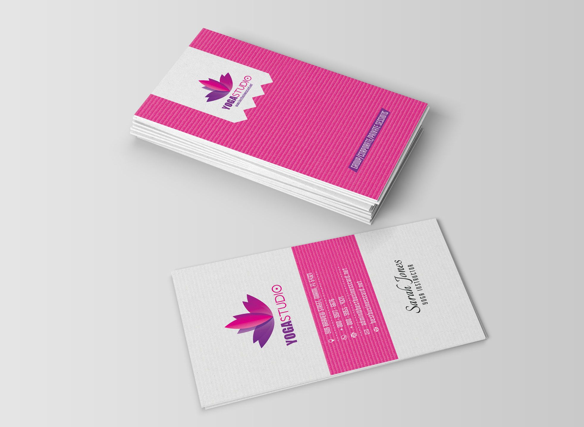 Yoga business cards free psd templates card pinterest psd yoga business cards free psd templates reheart Image collections