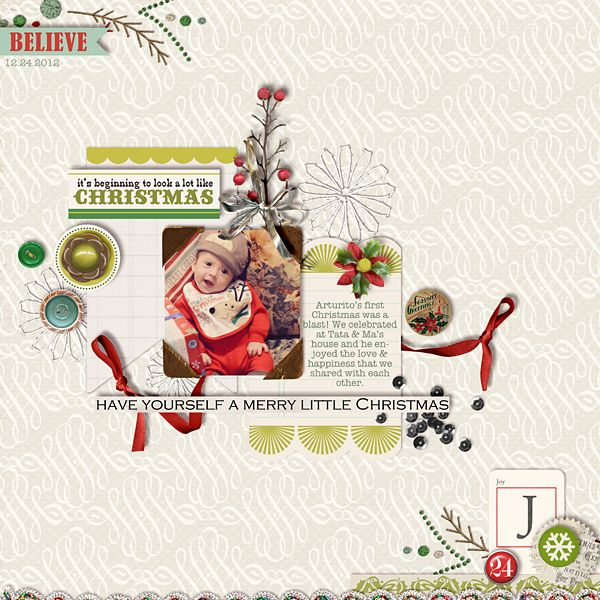 1 photo + elements + christmas