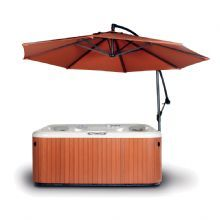 Spa Side Umbrella Rust #largeumbrella