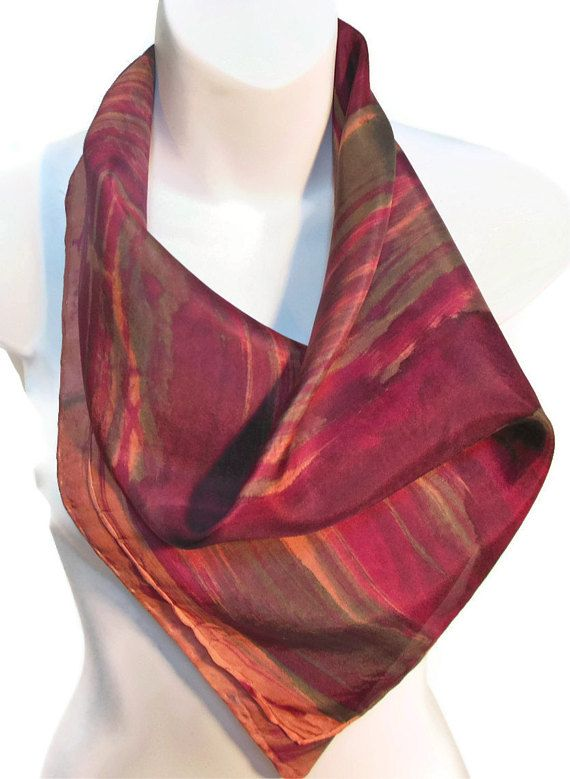 WEARABLE ART CONTEMPORARY FINISHING TOUCH TO ANY OUTFIT! ~100% Silk Scarves  are painted 0a2cd1a1c3fb9