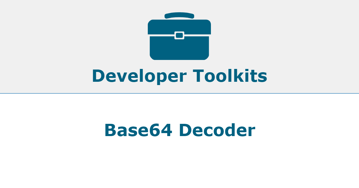 Fast, Free Base64 Decoder  Decode any Base64 encoded string  Convert