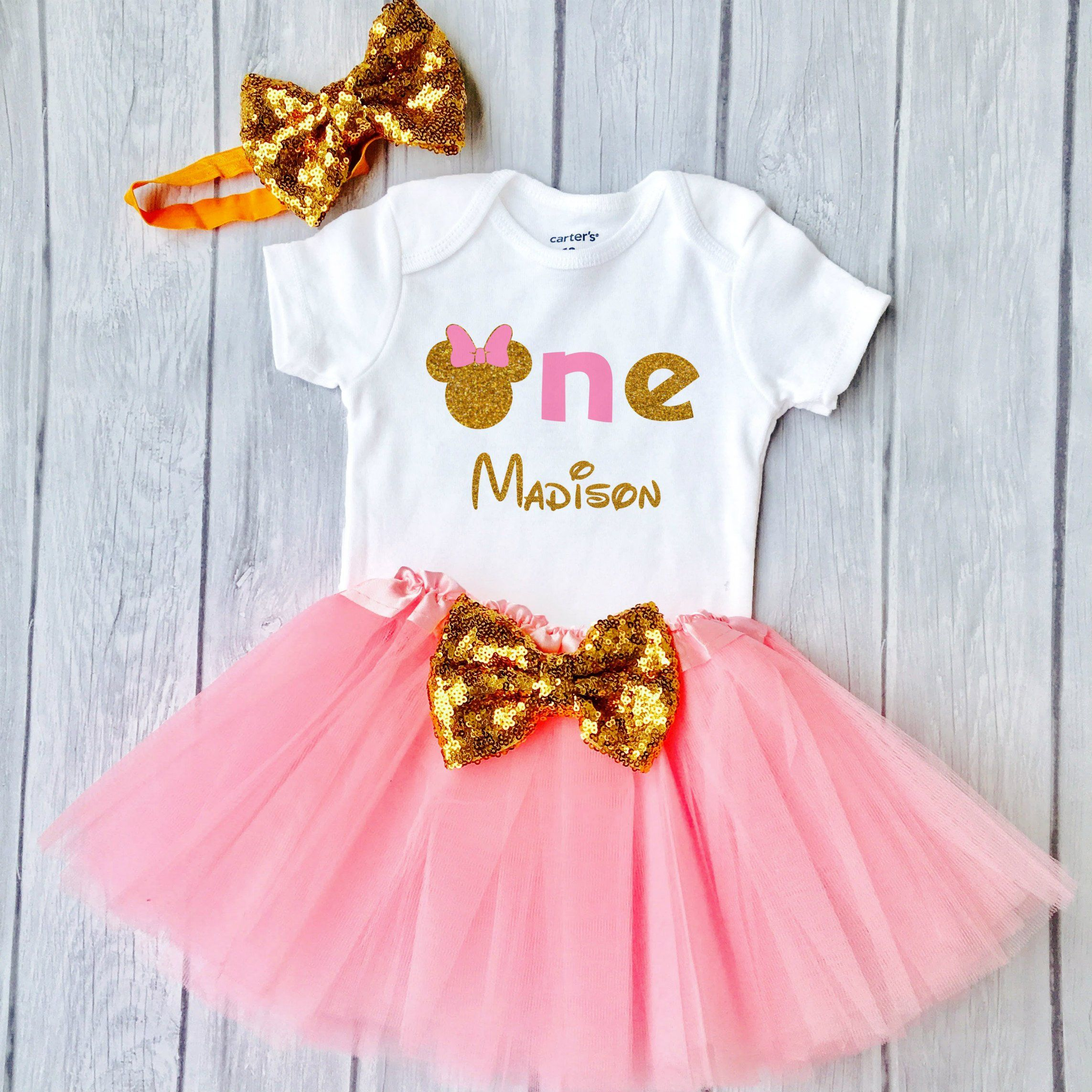 f77be46fbbc First Birthday Minnie Outfit