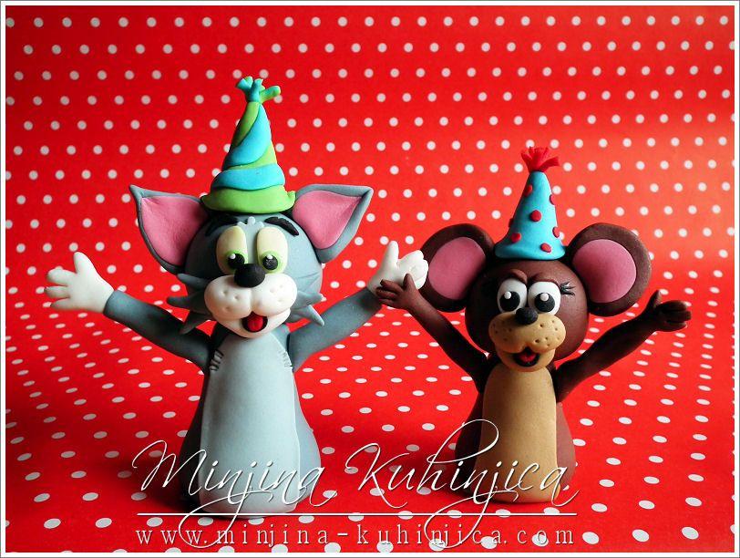 Tom Jerry 3D Figures inspiratie Pinterest Fondant cakes