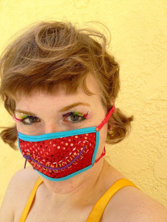 Ruby sparkles zipper gag mask    $21.00